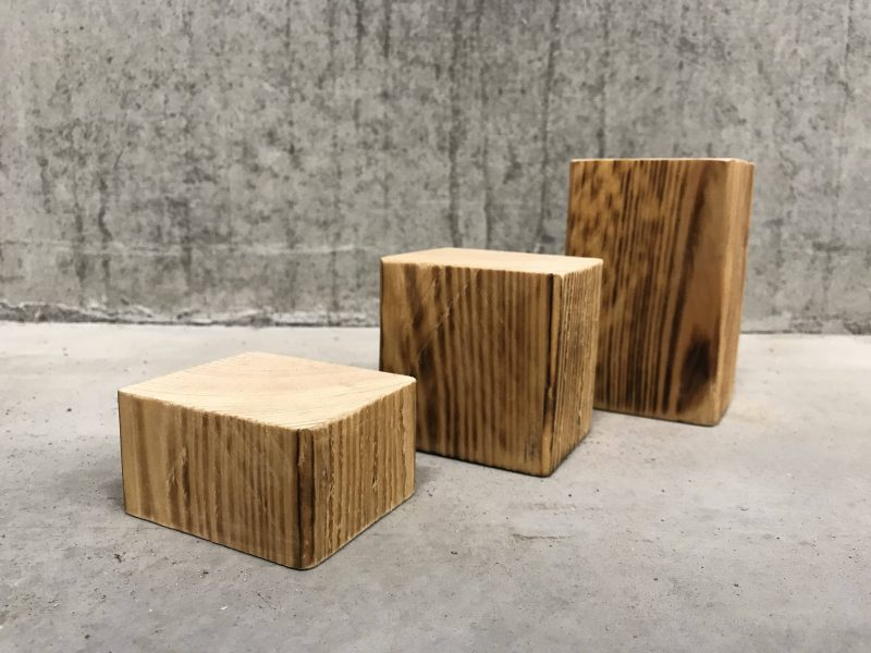 Display blokjes, displaymeubel hout